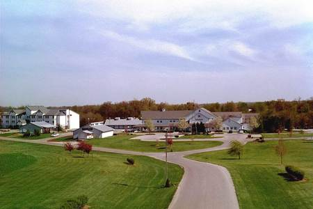 Gasthoff Amish Village from a distance