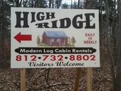High Ridge Cabins Logo
